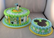 Baby Mickey Cake and Smash cake
