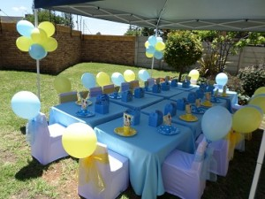 A party set up by Hassle Free Kids Party.
