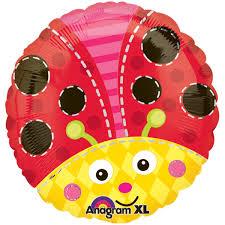 ladybug round foil