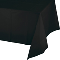 Black Plastic Tablecloth 1