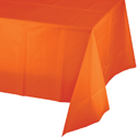Orange Plastic Tablecloth 1
