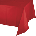 Red Plastic Tablecloth 1