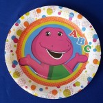 Barney Dots plate